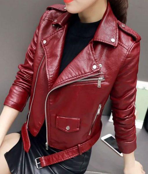 jo-yi-seo-burgundy-leather-jacket