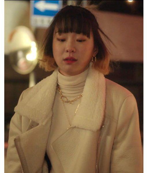 kim-da-mi-shearling-leather-jacket