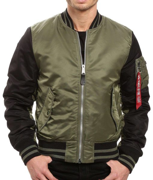 men's ma‐1 varsity bomber jacket