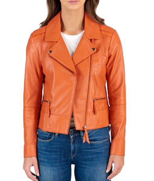 asymmetrical-orange-motorcycle-jacket