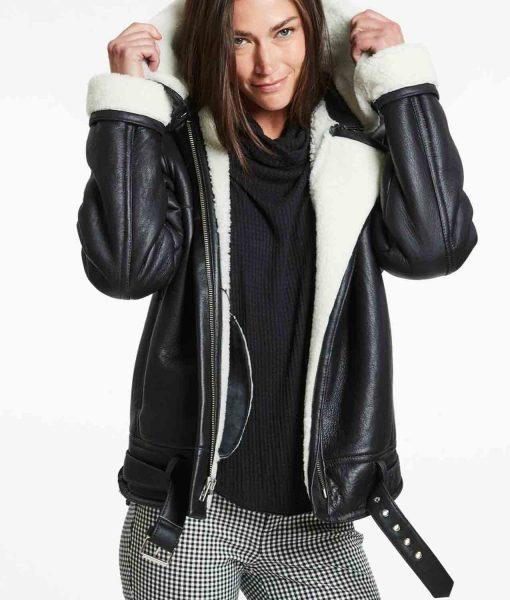belted-black-leather-shearling-jacket