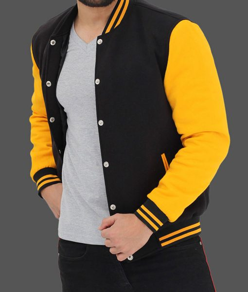 black-and-yellow-baseball-jacket