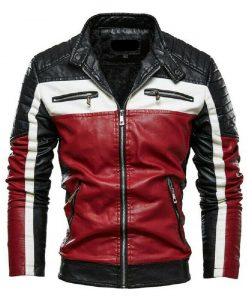 black-white-and-red-leather-jacket