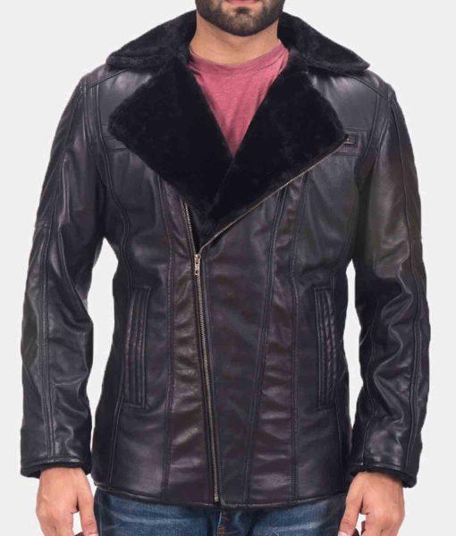 mens-asymmetrical-black-leather-shearling-jacket