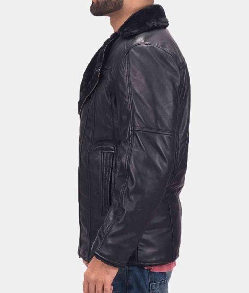 mens-asymmetrical-black-shearling-jacket