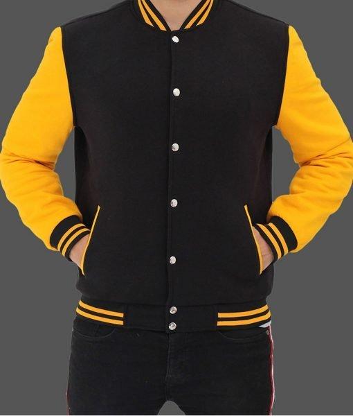 mens-black-and-yellow-baseball-jacket