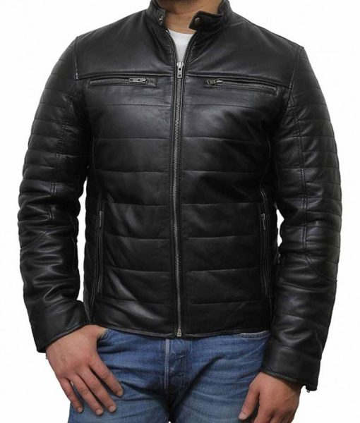 puffer-leather-jacket