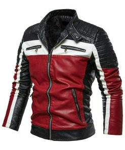 slim-fit-black-white-and-red-leather-jacket