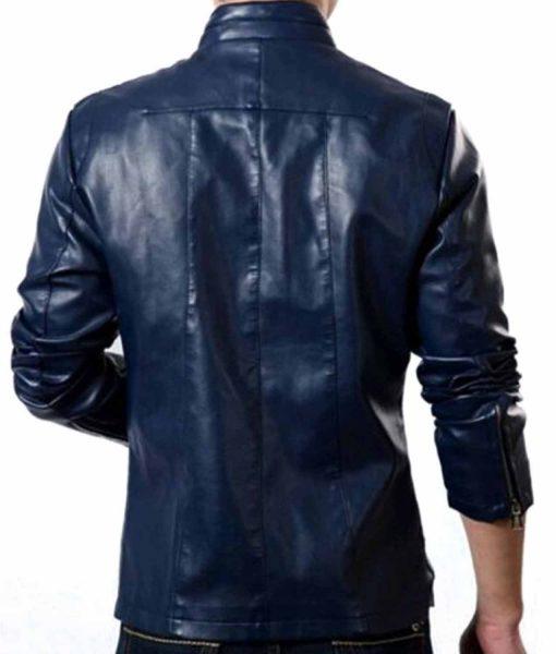 slim-fit-blue-leather-jacket