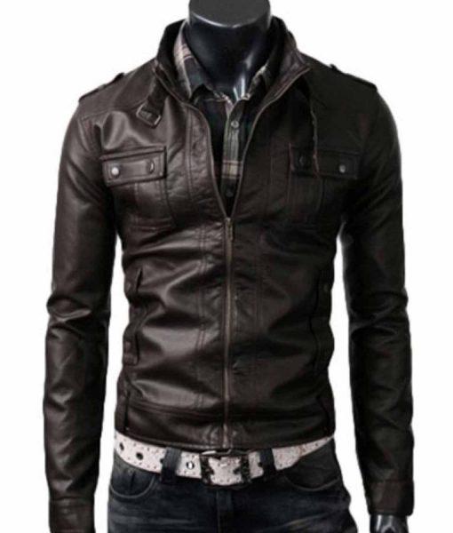 slim-fit-dark-brown-leather-jacket