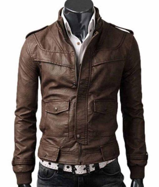 slim-fit-light-brown-leather-jacket