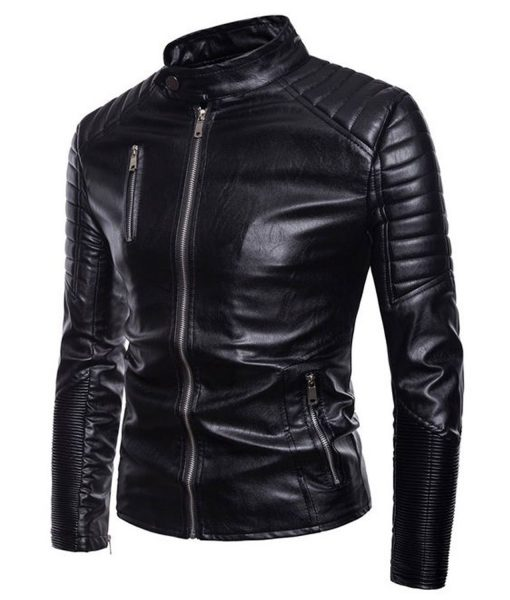 stand-collar-biker-leather-jacket