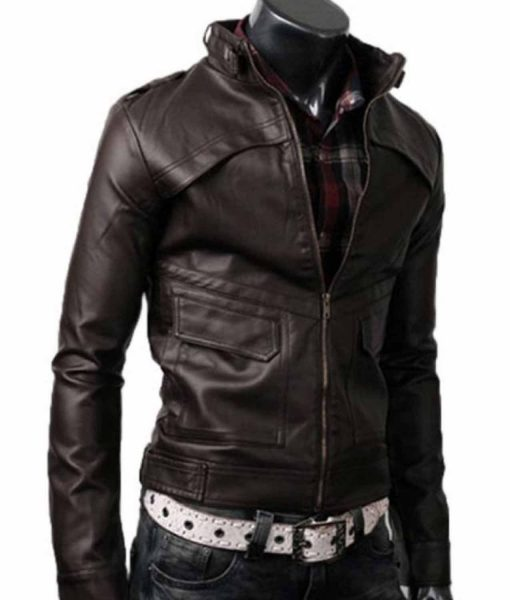 strap-collar-dark-leather-jacket