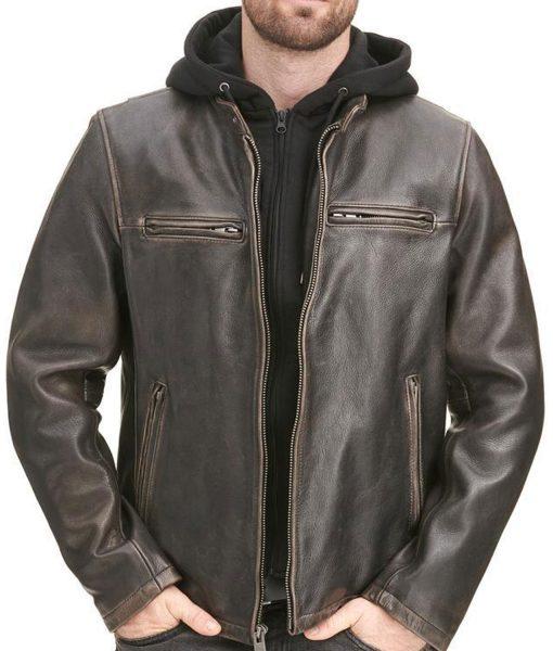 biker-brown-leather-jacket-with-hoodie