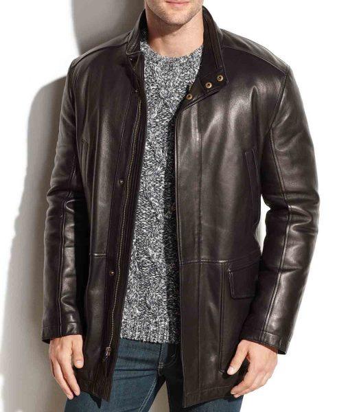 black-leather-car-coat