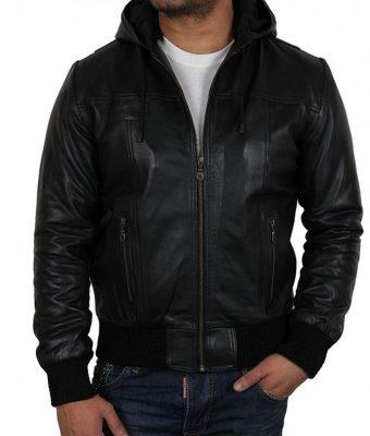 black-leather-hoodie