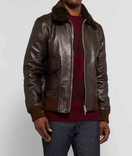 brown-leather-bomber-jacket-with-fur-collar