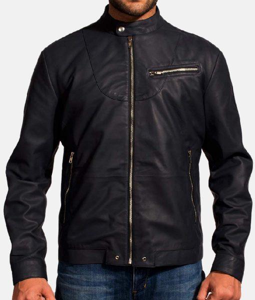 dark-blue-leather-jacket