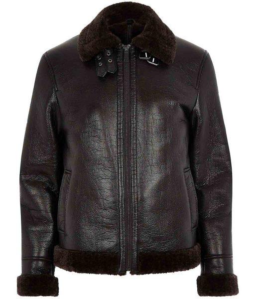 dark-brown-shearling-leather-jacket