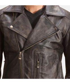 distressed-black-leather-biker-jacket