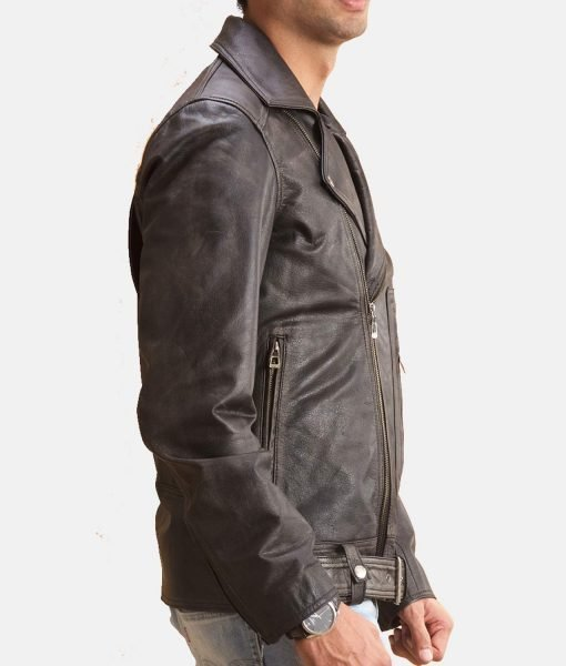 distressed-black-leather-jacket