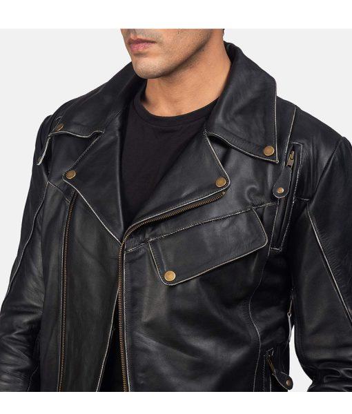 mens-black-biker-jacket