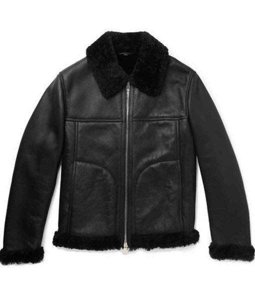mens-black-leather-shearling-jacket
