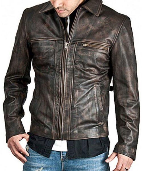 mens-brown-distressed-leather-jacket