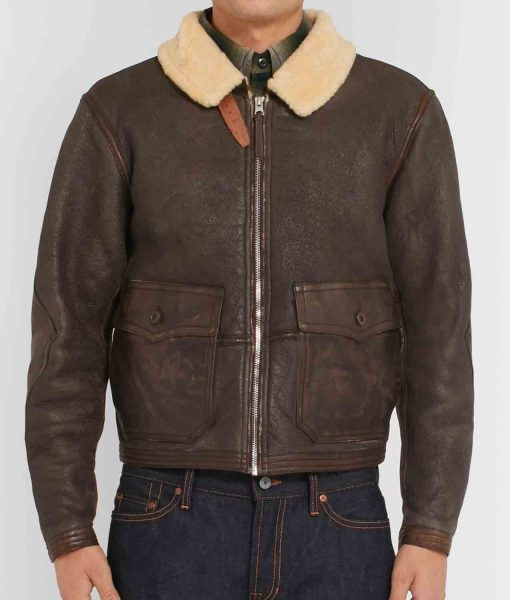 mens-brown-leather-jacket-with-fur-collar