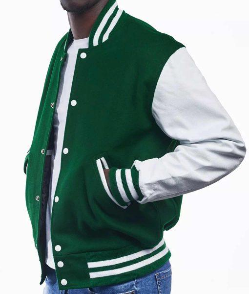 mens-green-and-white-varsity-jacket