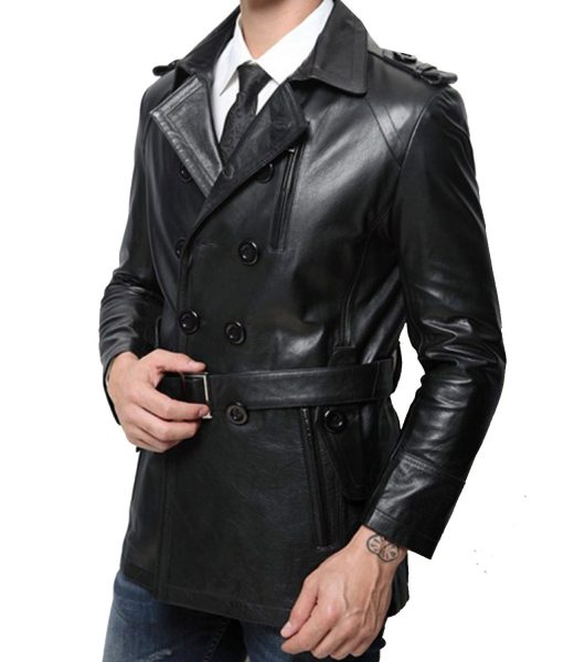 mid-length-leather-peacoat