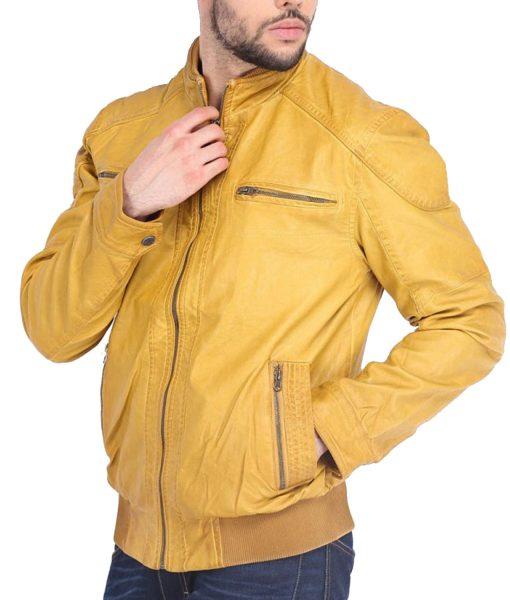 mustard-leather-jacket