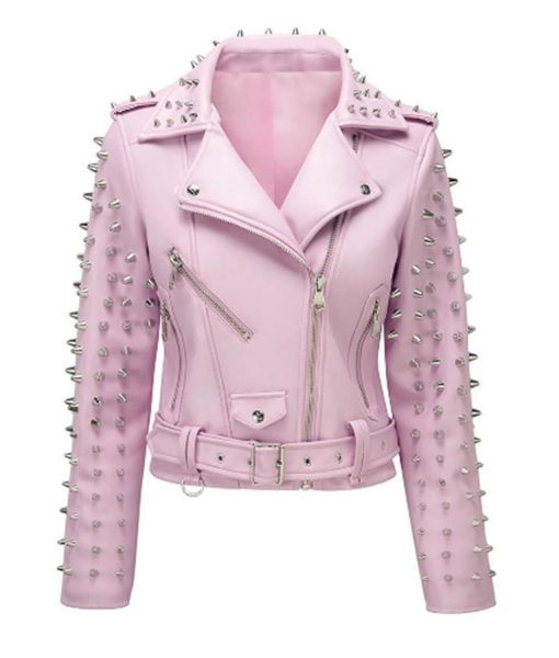 pink-leather-jacket-with-studs