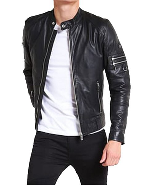 stand-collar-black-leather-jacket