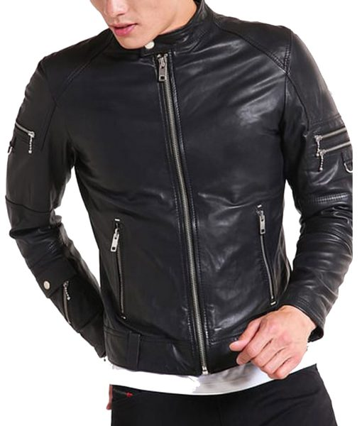 stand-collar-leather-jacket
