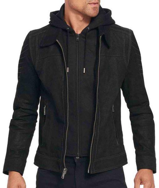 suede-black-jacket-with-hoodie