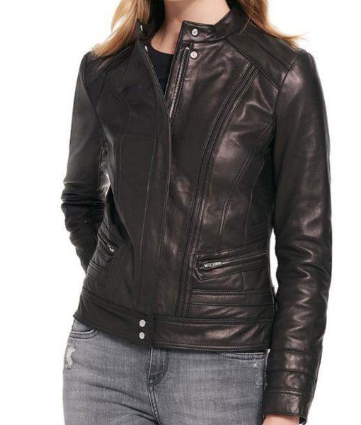 womens-black-rivet-scuba-leather-jacket