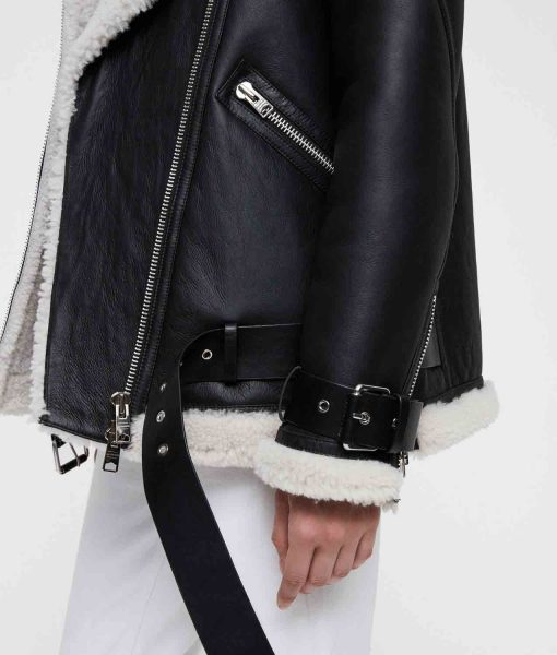 womens-black-shearling-jacket