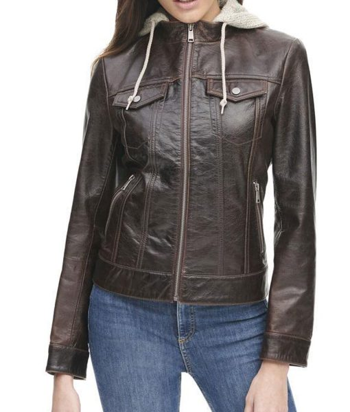 womens-crackle-brown-leather-jacket