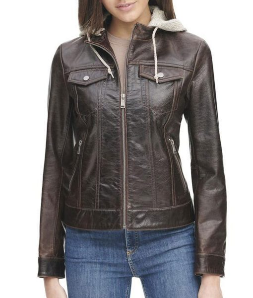 womens-crackle-brown-leather-jacket-with-hood