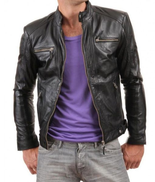 casual-black-leather-jacket