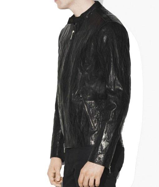 causal-black-leather-jacket