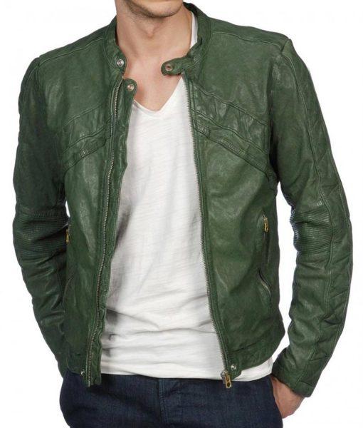 green-leather-biker-jacket