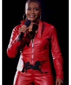 tiffany-haddish-red-leather-jacket