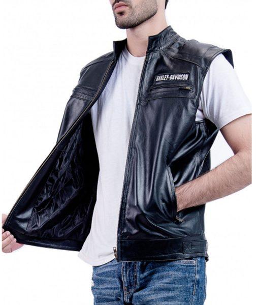 harley-davidson-black-leather-vest