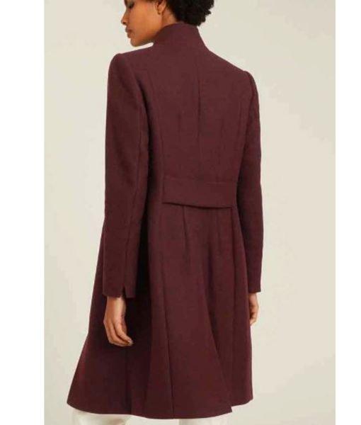 legacies-season-03-danielle-rose-russell-maroon-wool-coat