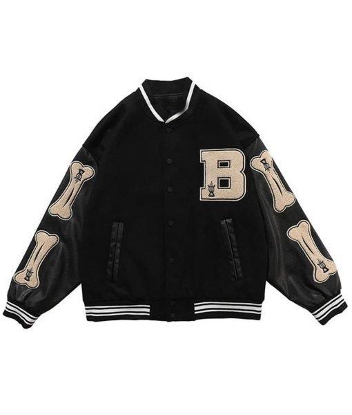 skeleton-bone-patchwork-black-varsity-jacket