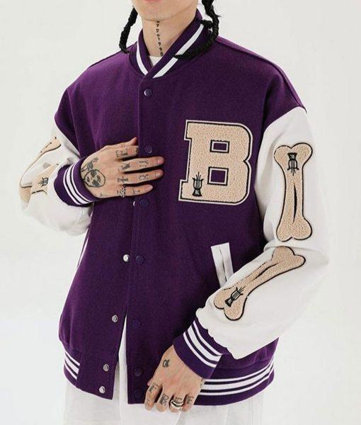 skeleton-bone-patchwork-purple-varsity-jacket