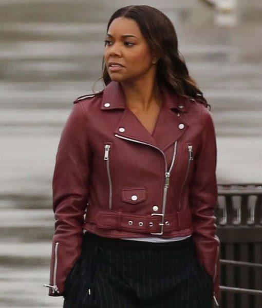 sydney-burnett-maroon-leather-jacket