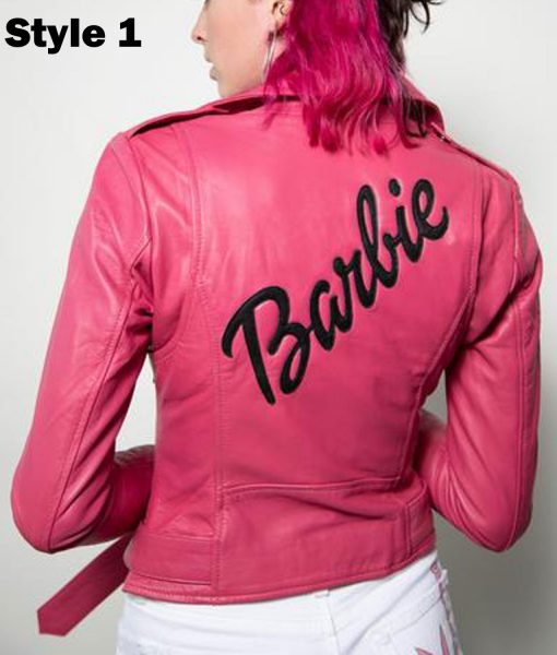 womens-barbie-doll-pink-leather-jacket